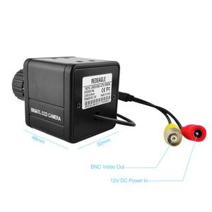 Image 3 - CVBS 700TVL Analog กล้องรักษาความปลอดภัยในร่มสีมินิกล้องเลนส์ 4MM