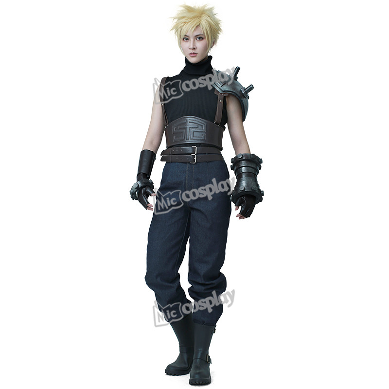 Anime Final Fantasy VII Remake Cloud Strife Cosplay Costume Halloween Party Men Clothing