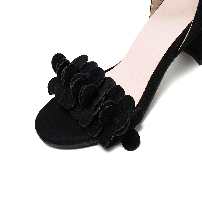 5322a3fbe0 HAIOU Marcas Nuevo 2017 Púrpura Peep Toe de Las Mujeres Zapatos Bajos  tacones Roma Elegantes Sandalias de Las Mujeres Negras Cuadrados Sandalias  de Tacón ...