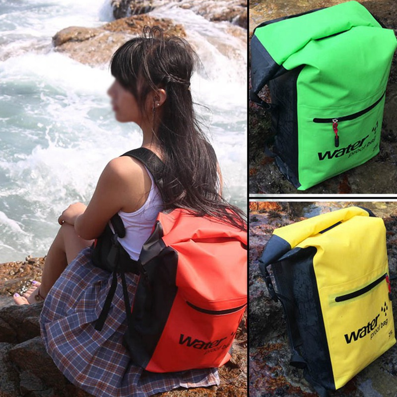 25L Waterproof Dry Bag Outdoor Storage Backpack Folding Swimming Camping Hiking Drifting Bag(China)