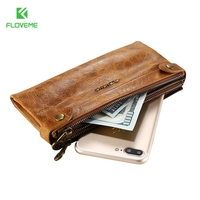 FLOVEME Universal 5 5 Leather Case For IPhone 5s Se 6 6s Plus 6s Plus 7