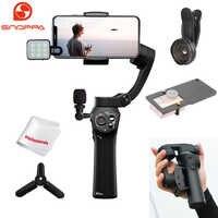 Stabilisateur de cardan portable 3 axes pliable Snoppa Atom pour iPhone Samsung XiaoMi Huawei téléphone et caméra d'action GoPro