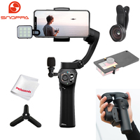 Snoppa Atom Foldable Pocket Sized 3 Axis Handheld Gimbal Stabilizer for iPhone Samsung XiaoMi Huawei Phone & GoPro Action Camera