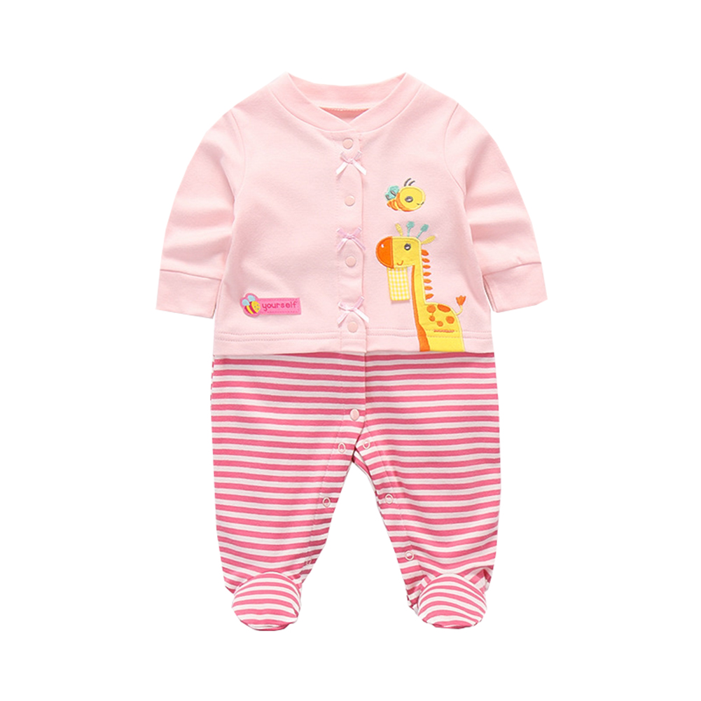 Newborn Baby Girls Bodysuit Short-Sleeve Onesie All WE Need is Love Print Jumpsuit Summer Pajamas