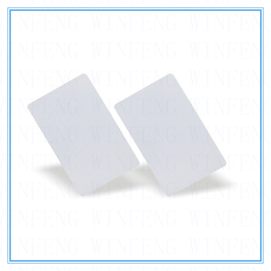 ISO14443A 0.8mm Thin Passive RFID Card 13.56Mhz MF S50 Proximity IC Smart Card NFC Tag For Access Control System winfeng 2000pcs lot nfc ntag215 tag card passive 13 56mhz proximity rfid access control card with qr barcode