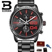 Hombres relojes 2015 Binger relojes de marca de lujo para hombres cronógrafo  dial grande individualidad impermeable del reloj de. 342edcdf69db