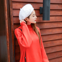 Autumn And Winter Fashion Bounty Hat Female Face Was Thin Painter Hat Wool Buds Buds Outdoor