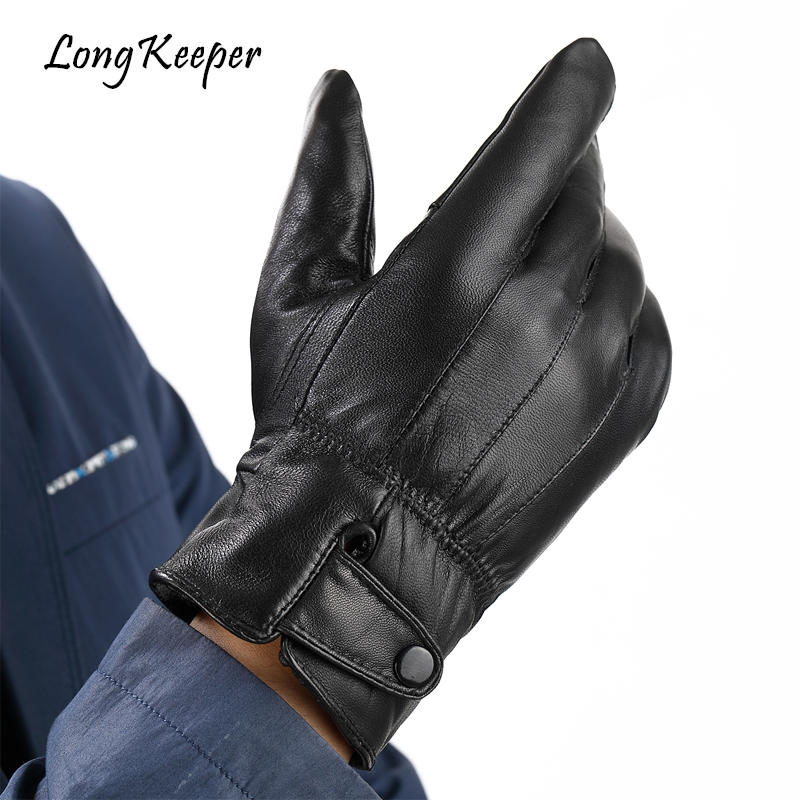 Top Quality Long Keeper Real Genuine Leather Gloves Mr Right Winter Windproof Full Finger Glove 2018 New Luva Military Guantes