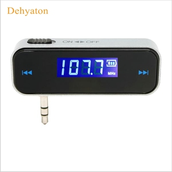 Dehyaton Mini bluetooth Transmitter 3.5mm In-car Music Audio FM Transmitter Electronic Car MP3 Player 3.5mm Car Display mp3 car image