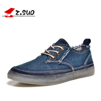Z. Suo Fashion men Casual Shoes Denim Canvas shoes Autumn men shoes men brand shoes ZS16106