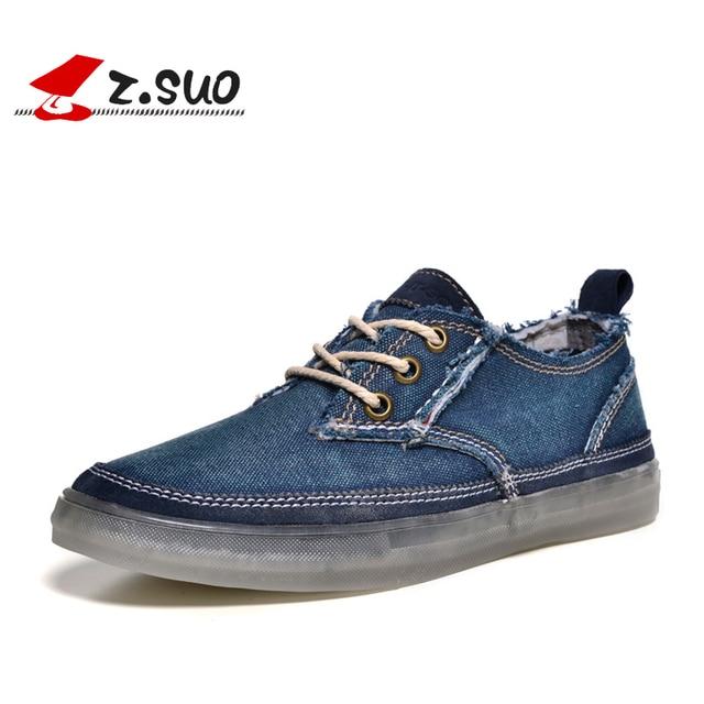 Z. Suo Fashion men Casual Shoes Denim Canvas shoes Autumn men shoes men brand shoes ZS16106