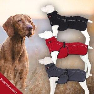 Image 3 - Hurtownia odzieży dla zwierząt domowych kurtka dla psa zimowe ubrania dla psów czerwone ubrania dla psów Golden Retriever wodoodporny duży pies kurtka czarny