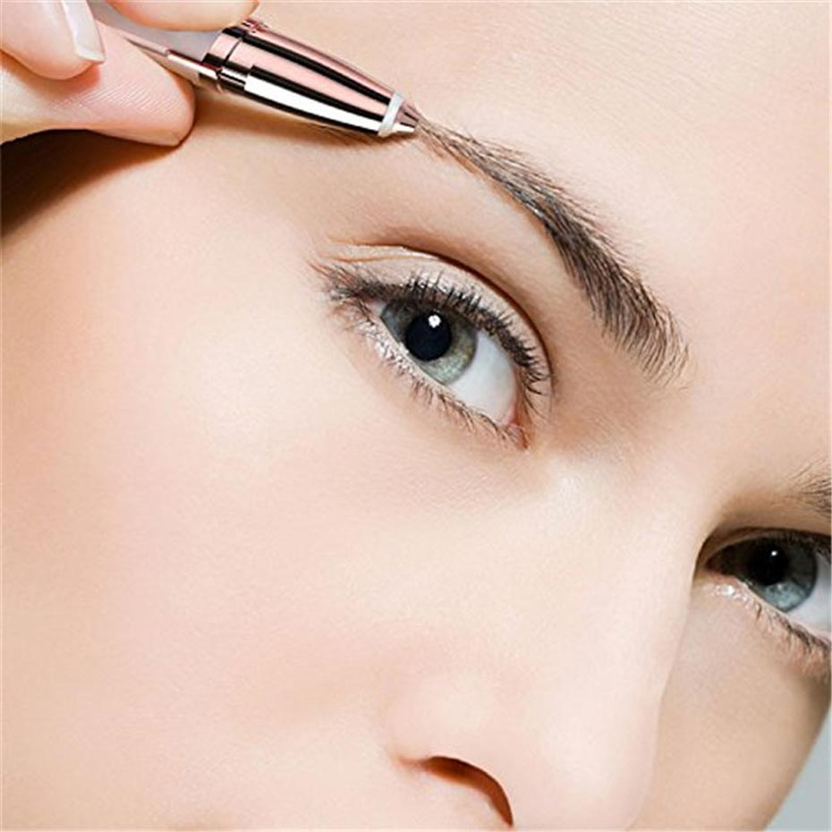 Multifunction Lipstick Eyebrow Trimmer Brows Hair Remover Pen Mini Electric Shaver Painless Eye Brow Epilator