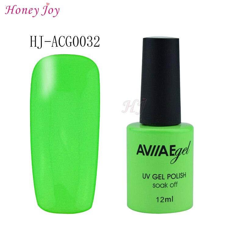 AVIIAE Brillante de Color Verde Esmalte de Uñas de Gel de Larga ...