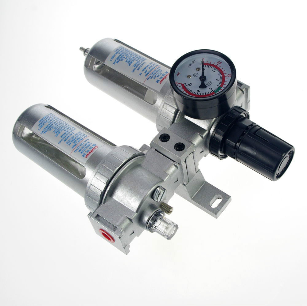 Free shipping SFC-400 PNEUMATIC <font><b>AIR</b></font> <font><b>FILTER</b></font> REGULATOR LUBRICATOR BSP <font><b>TWINS</b></font>