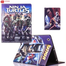 Case for Ipad 4 Cover Movie Superhero Batman Captain America Pu Leather Stand For 3 ipad 2 case With Pen