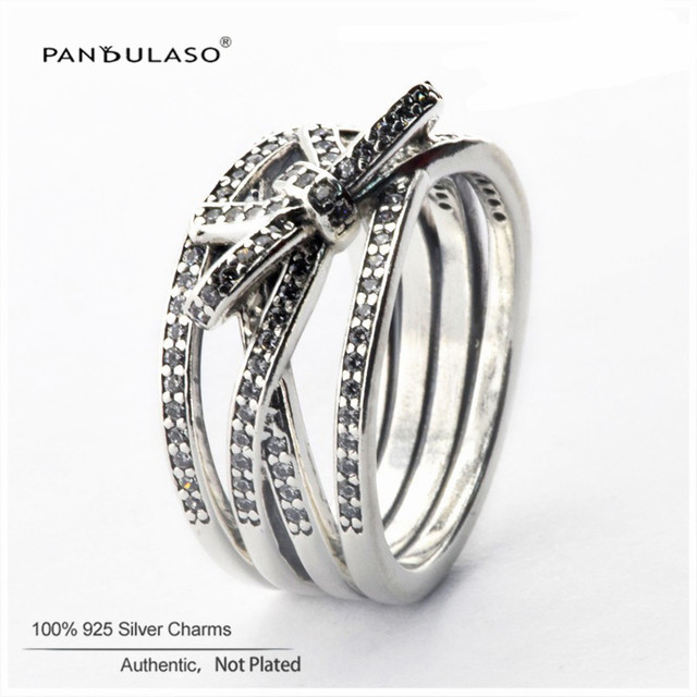 Sterling-Silver-Rings Delicate Sentiments Ring DIY Fashion Silver European Style Jewelry For Women Wholesale Wholesale Rings
