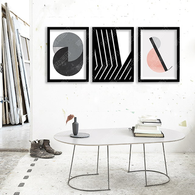 Wall Art Canvas Painting Black Beauty circle Posters And Prints Wall Pictures For Living Room Nordic Decoration No Poster Frame
