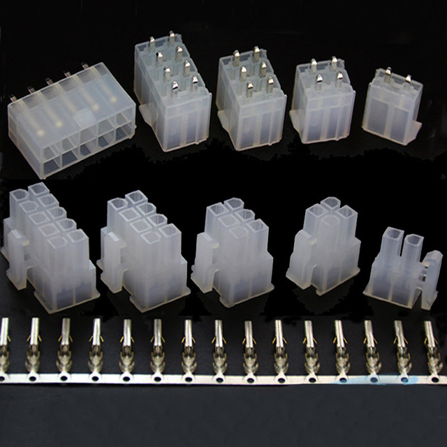 5557 5569 2 4 6 8 10 12 14 16 18 20 22 24 4.2mm Straigh angle wire to PCB board connector Mini-Fit Jr. Power Connectors