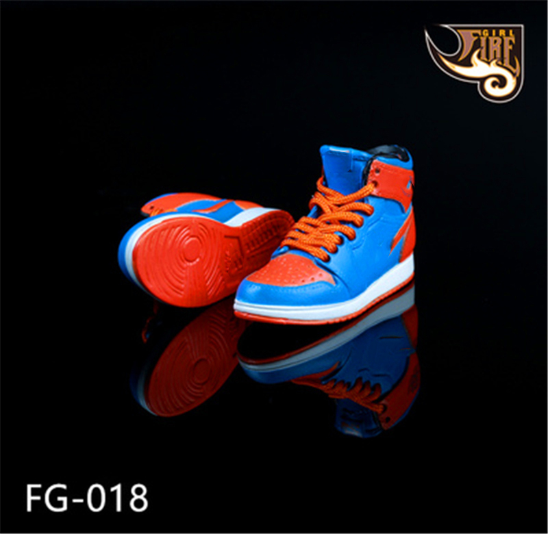 Action Figure Accessories 1 6 Sneakers Hollow Shoes Model For Male Sport Basketball Star Figurine Dolls in Action Toy Figures from Toys Hobbies