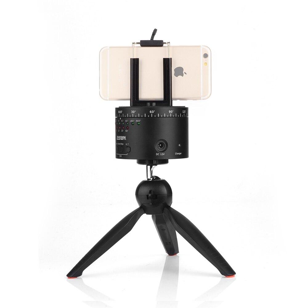 SEVENOAK SK-EBH01 Electronic 360 Degree Swivel Panoramic Tripod Ball Head for DLSR Camera + Yunteng Mini Tripod