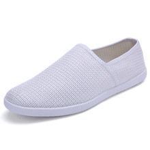Hot Sale Korean Fashion Canvas Casual Shoes Men Breathable Slip On Flats Zapatillas Walking Shoes For Spring Summer Autumn