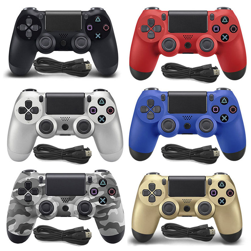 Wired Game controller for PS4 Controller for Sony Playstation 4 for DualShock Vibration Manette Gamepads for PC Win 7 8 10Wired Game controller for PS4 Controller for Sony Playstation 4 for DualShock Vibration Manette Gamepads for PC Win 7 8 10