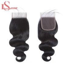 Mornice Hair Brazilian Body Wave Lace Closure 4X4 Middle Part Density 130% Bleached Knots Remy Free Shipping