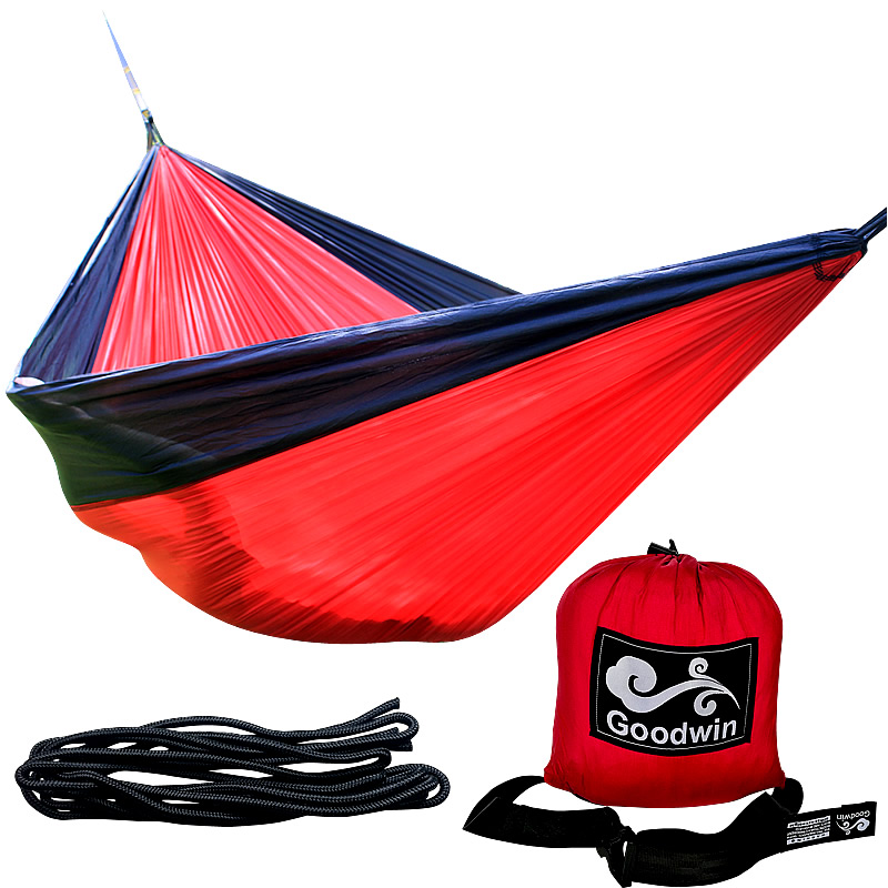 24 Color 2 People Portable Parachute Hammock Camping Survival Garden Flyknit Hunting Leisure Hamac Travel Double Person Hamak 2 people portable parachute hammock outdoor survival camping hammocks garden leisure travel double hanging swing 2 6m 1 4m 3m 2m