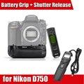 Original Meike MK-DR750 Grip Vertical de la batería para Nikon D750 como MB-D16 con 2.4 G Control remoto inalámbrico P0018051 envío gratis
