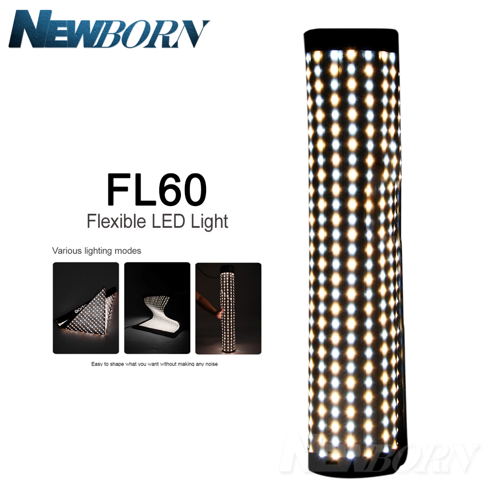 Godox FL60 60W Flexible LED Video Light Rollable Cloth Lamp with Controller + Remote Control + X-shape Support +Mobile APPGodox FL60 60W Flexible LED Video Light Rollable Cloth Lamp with Controller + Remote Control + X-shape Support +Mobile APP