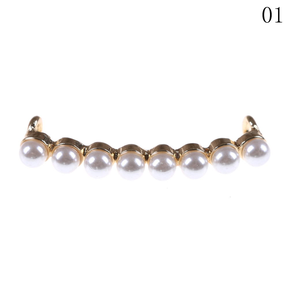 1 Piece Shoelaces Decoration White Pearl Shoe Accessories Women Shoes Decorative Accessory Beautiful Lovely Shiny Clip Pearls bsaid1 piece shoes flower rhinestones clip decoration buckle crystal pearl women decorative accessories insert fitting charm