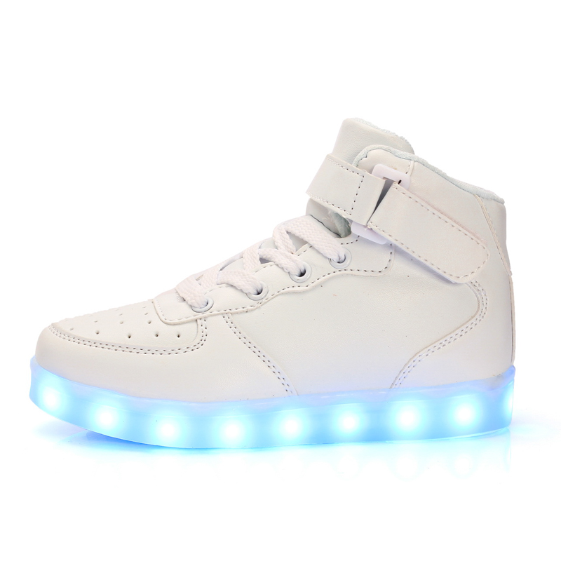f694c8e9d7 Basket Led Children Shoes With Light Up Kids Casual shoes Boys Girls ...