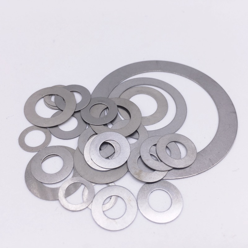 100 Pcs Thickness 0.5mm Flat Washer Ultrathin Gasket Thin Shim Washer Stainless Steel 304 M3 M4 M5 M6 M8 M10 M12 M14 M16 M18 image