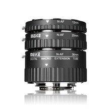 Meike MK N AF A 니콘 D90 D3000 D3100 D3200 D5000 D5100 D5200 D7000 D7100 카메라 DSLR 용 자동 초점 매크로 확장 튜브 링