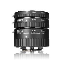Meike MK N AF A السيارات التركيز ماكرو تمديد أنبوب الدائري لنيكون D90 D3000 D3100 D3200 D5000 D5100 D5200 D7000 D7100 كاميرا DSLR