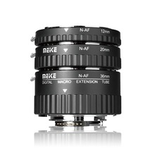 цена на Meike N-AF-B Auto Focus Macro Extension Tube Ring for Nikon D60 D90 D3000 D3100 D3200 D5000 D5100 D5200 D7000 D7100 Camera DSLR