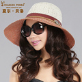 Женская Мода Шляпа Солнца Женский Bello Летние Солнцезащитный Крем Cap Широкими Полями Шляпа Леди Большой Корейский Тени Складной Пляж Крышка B-4868