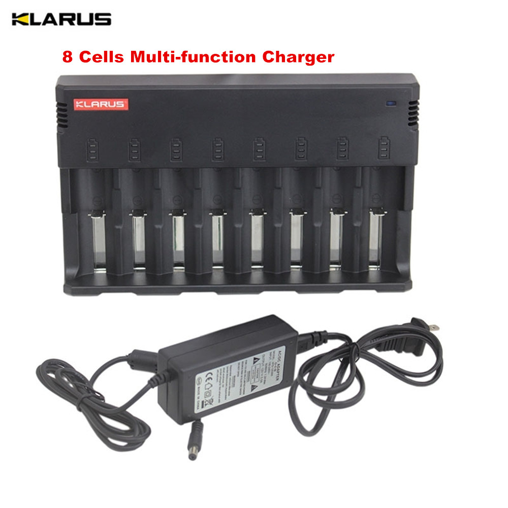 8 Cells Multi-function Charger KLARUS C8 LCD Screen Display Battery recharge power Bank for for C AA AAA 18650 26650 14500 etc thread screw thread metric plugs taps and die wrench set used for electric tools for model processing handmade diy