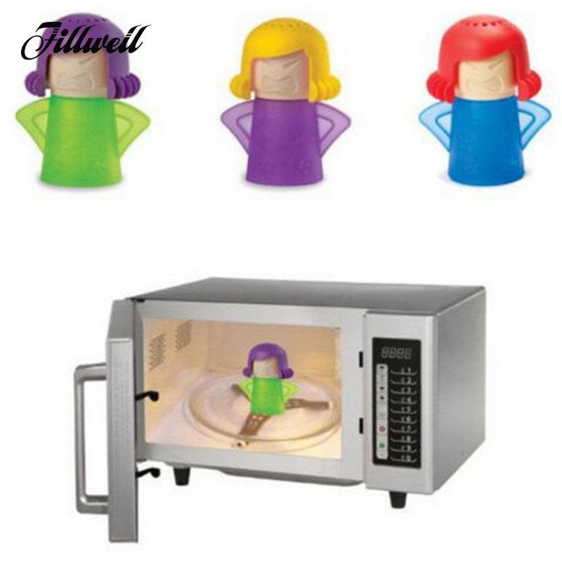 Angry Mama Microwave Cleaner Easily Cleaning In Minutes Oven Steam Kitchen Tools