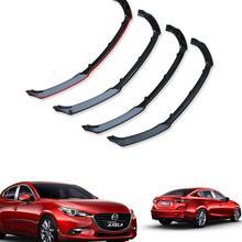 ABS автомобиль передний бампер губы спойлер, диффузор крышка подходит для MAZDA 3 M3 Axela седан