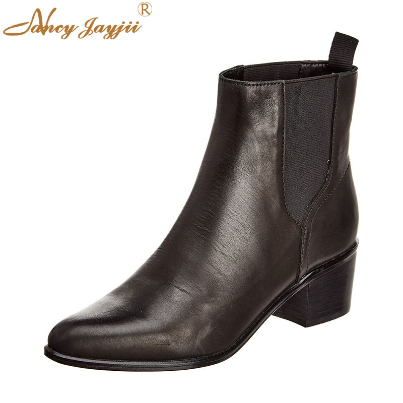 Women Shoes Adult Ladies Female Chelsea Boots Ankle Round -2836