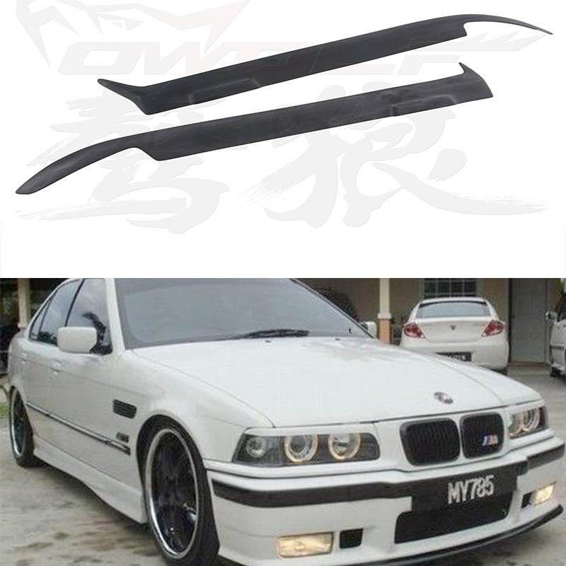 E36 FRP Primer Car Headlight Eyelid Eyebrows Cover Trim Sticker For BMW E36 1990-2000