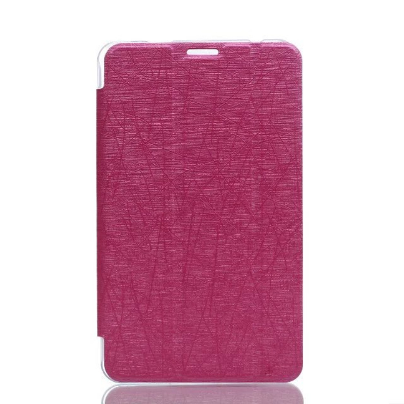 Luxury Silk leather Case for Huawei Mediapad T1 8.0 S8-701U S8-701w T1-821W Stand Tablet pc Cover for huawei Honor S8 fundas case for huawei honor 7x shockproof with stand 360 rotation back cover contrast color hard pc
