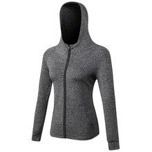 Las mujeres con capucha deportes abrigo de compresión cubre Fitness  sudaderas con capucha gimnasio Rashgard formación 77d868d114cce