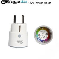 НЕО Coolcam Smart Plug Wi Fi разъем 3680 Вт 16A мощность мониторинга энергии таймер ЕС выход голос Управление по Alexa Google IFTTT