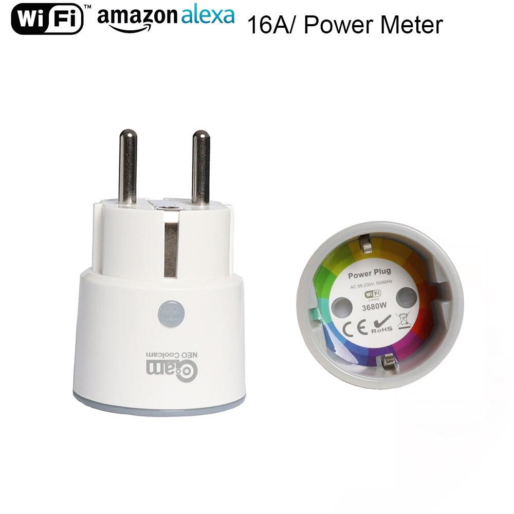 Sicherheit & Schutz KüHn Neo Coolcam Smart Stecker Wifi Buchse 3680 W 16a Power Energie Überwachung Timer Schalter Eu Outlet Voice Control Durch Alexa Google Ifttt