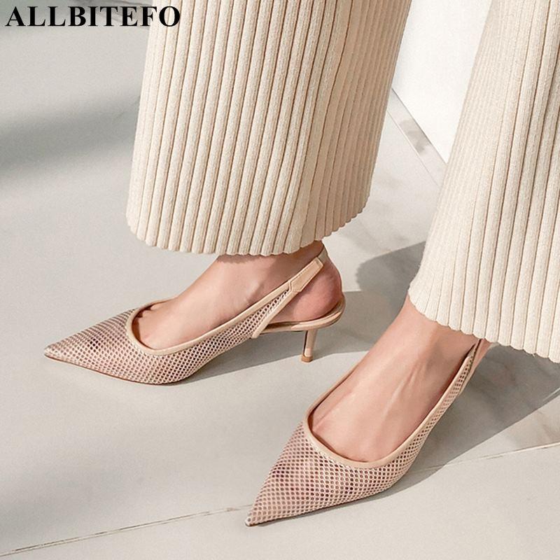 ALLBITEFO fashion brand Ventilation mesh high heels women sandals new summer beach women shoes women high