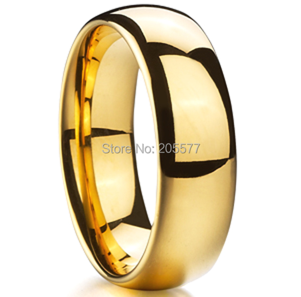 Discount Cheap Gold Color Color Wedding Band Tungsten Carbide Ring Ring Men And Women