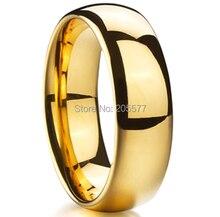 Descuento barato chapado en oro wedding band anillo tungsten carburo hombres y mujeres moda joyas bijoux